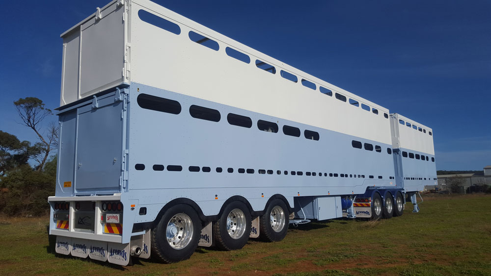 Arends Trailers 6.3m / 12.5m 2 Deck Aluminium Cattle B Double