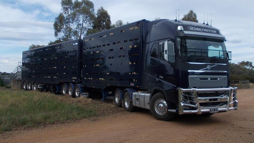 Arends Trailers 4 x 2 Convertible. Full aluminium crates with optional mesh on all floors.