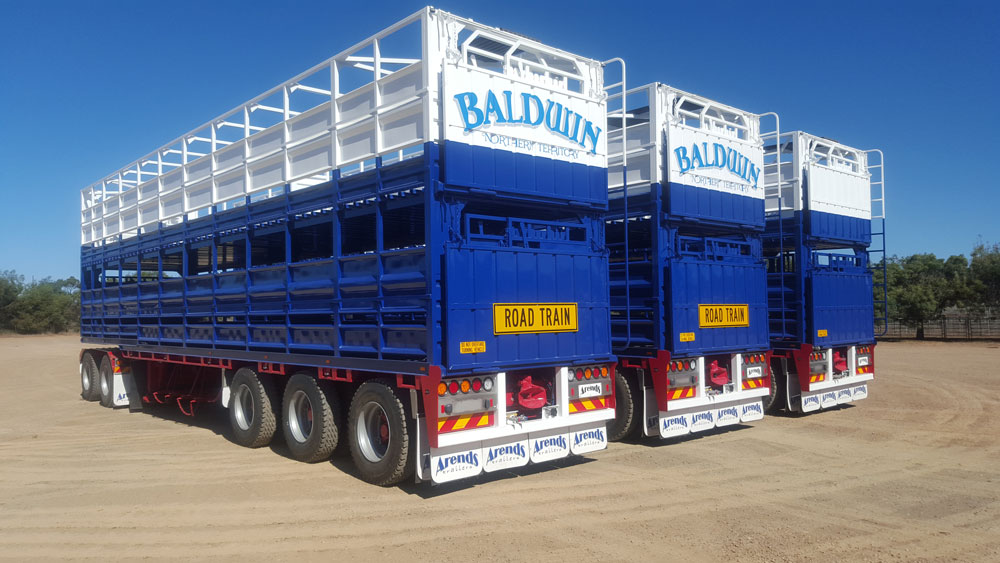 Arends Trailers Full Steel Outback Road Train Spec